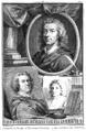 Aert Schouman Jacob Houbraken - Cornelis de Bruin, Theodorus Netscher, Bonaventuur van Overbeek.png