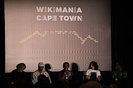 African Wikipedians on panel discussion.jpg