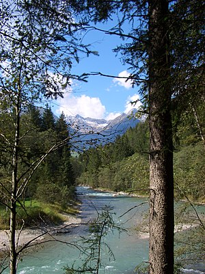 Ahr (South Tyrol) - Ahr between Luttach and Sand in Taufers