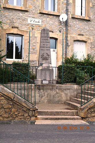 Aigne - The War Memorial
