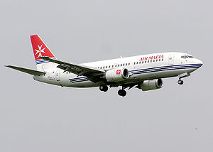 Philippine Airlines Flight 143 - A Boeing 737-300 similar to the one involved, in Air Malta livery.