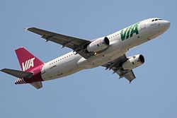 Airbus A320-200 der Air Via