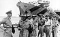 Air Vice-Marshal George Jones, RAAF, at Yokohama, Japan, with USS General S. D. Sturgis (AP-137) in the background, circa in September 1945 (AWM OG3442).jpg