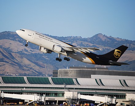San Jose International Airport is ranked as the best-run airport in the United States, by the ACBJ. Airbus A-300 UPS takes off (5863558111) (2).jpg