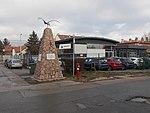 Airplane monument and SEAT dealership, 2018 Mátyásföld.jpg