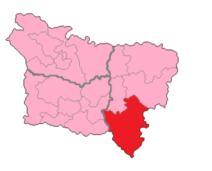 Aisne's 5th constituency - Aisne's 5th constituency shown within Picardie