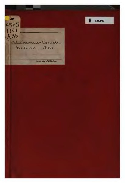 File:Alabama State Constitution of 1901.djvu