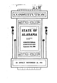 Alabama State Constitution of 1901.djvu