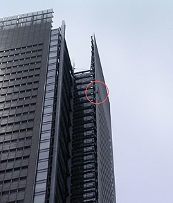Alain Robert climbs the New York Times building on June 5, 2008
