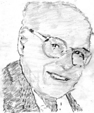 Alan Blyth - Pencil sketch of Alan Blyth