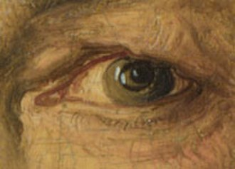 Portrait of Dürer's Father at 70 - Detail