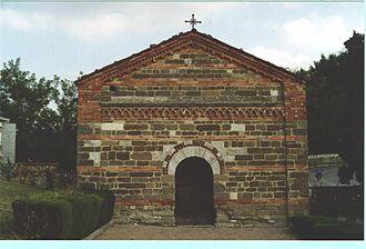 Albugnano - Facade of the St. Peter church.