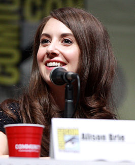 Brie tijdens de San Diego Comic-Con International in 2013