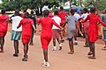 All Female Match Past practice session of Annunciation Secondary School, Red House 02.jpg