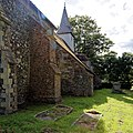 All Saints Church Stourmouth Kent England - brick buttress and tower from northeast.jpg