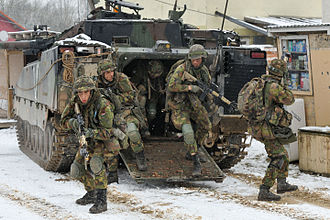 Royal Netherlands Army - Royal Netherlands Army's Mechanised Infantry unit who participated in the Allied Spirit I exercises.