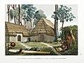 Alphonse Pellion, Îles Sandwich; Maisons de Kraïmokou, Premier Ministre du Roi; Fabrication des Étoffes (c. 1819).jpg