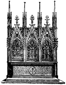 Altare i Elisabetskyrkan i Marburg, Nordisk familjebok.png