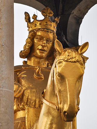Otto I, Holy Roman Emperor - Replica of the Magdeburger Reiter, an equestrian monument traditionally regarded as a portrait of Otto I (Magdeburg, original c. 1240)