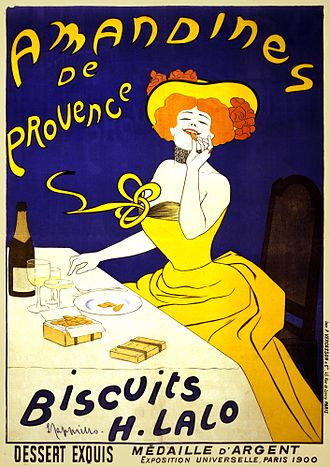 Eating - Amandines de Provence, poster by Leonetto Cappiello, 1900