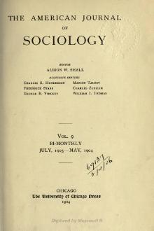 American Journal of Sociology Volume 9.djvu