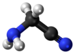 Ball and stick model of aminoacetonitrile