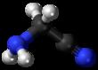 Ball and stick model of aminoacetonitrile