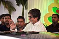 Amitabh Bachchan at Esha Deol's wedding at ISCKON temple 05.jpg
