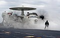 An E-2C Hawkeye prepares to launch from USS Carl Vinson. (8720068691).jpg