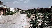 An abandoned MOGADISHU Street known as the Green Line, Jan 1993