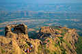 An aerial view of Rajgad fort Maharashtra India.jpg