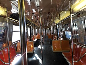 R68A (New York City Subway car) - Image: An image of the R68A interior
