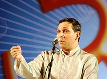 Anand Bhate singing in Vasantotsav 2011.jpg