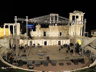 Plovdiv Roman theatre - Concert preparations (2015)