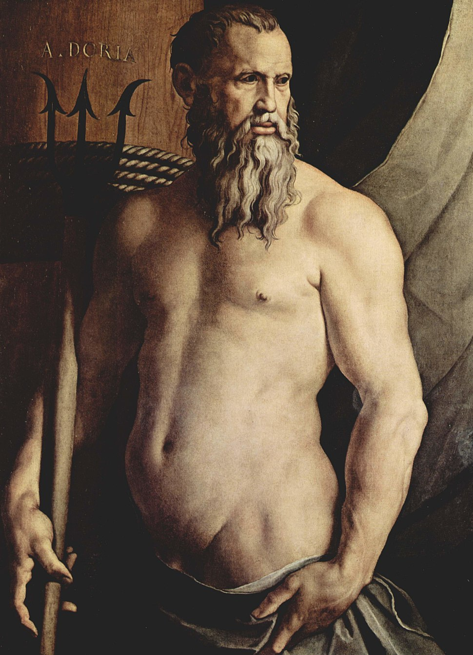 Andrea Doria as Neptun by Angelo Bronzino