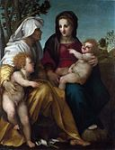 Andrea del Sarto, The Madonna and Child, Saint Elizabeth and the Baptist.jpg