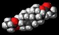Androstenediol dipropionate molecule spacefill.png