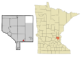Anoka Cnty Minnesota Incorporated and Unincorporated areas Lexington Highlighted.png