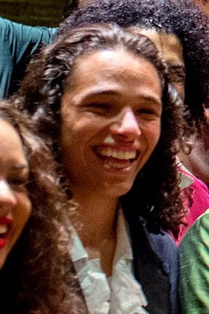 Anthony Ramos (actor) - Anthony Ramos at Hamilton cast photo op with President Obama in July 2015