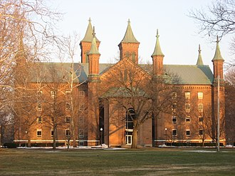 Antioch Hall, North and South Halls - Rear of Antioch Hall