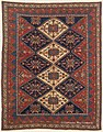 Antique 3rd Quarter, 19th Century Southeast Persian Afshar Carpet 4ft 5in x5ft 10in.jpg