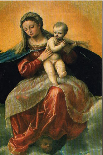 Antonio Badile - Mary and Jesus.