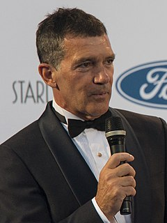 Antonio Banderas Spanish actor and filmmaker