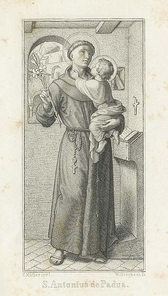 Three Hail Marys - St. Anthony of Padua (1195-1231), one of the first to recommend this practice.