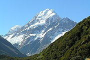 Aoraki/Mount Cook is the tallest mountain in New Zealand