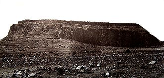 Battle of Magdala - The Fortress of Magdala, prior to its destruction in April 1868