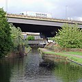 Aqueduct, and motorway across Salford Junction, Birmingham - geograph.org.uk - 1740026.jpg