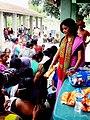 Archana Borthakur distributes sanitary pads in Chirang District of Assam.jpg