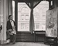 Archives of American Art - Yasuo Kuniyoshi in his studio - 2585.jpg