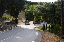 The road into Argiusta-Moriccio